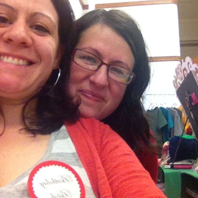 Megan and Olivera at Midwest Craft Caucus