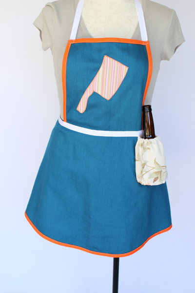 Blue Cleaver Beer Pocket Apron Full12