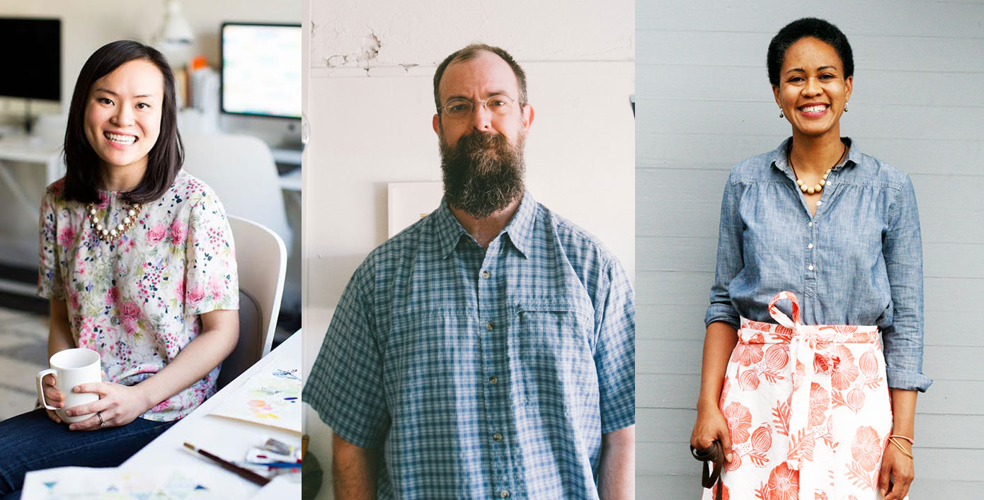 midwest craft con keynote speakers: yao cheng, chris glass and jen hewett