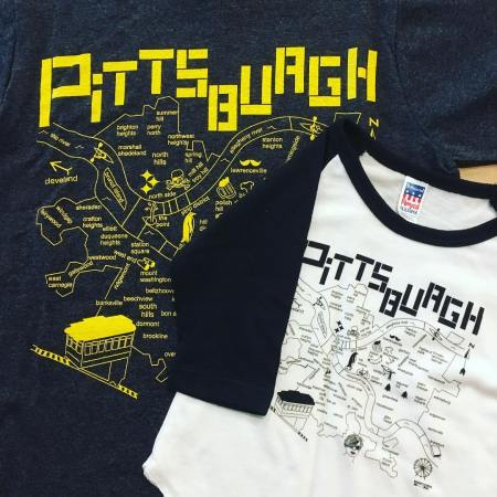 wildcard pittsburgh tshirt by maptote