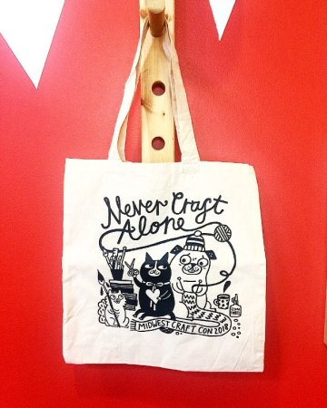 gemma correll never craft alone tote